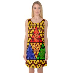 The Triforce Stained Glass Sleeveless Satin Nightdress