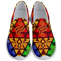 The Triforce Stained Glass Men s Lightweight Slip Ons