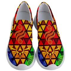 The Triforce Stained Glass Women s Lightweight Slip Ons