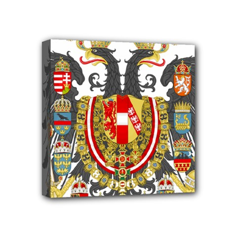 Imperial Coat Of Arms Of Austria Hungary  Mini Canvas 4  X 4