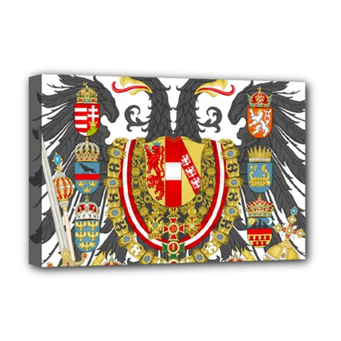 Imperial Coat Of Arms Of Austria Hungary  Deluxe Canvas 18  X 12