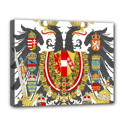 Imperial Coat Of Arms Of Austria Hungary  Deluxe Canvas 20  X 16