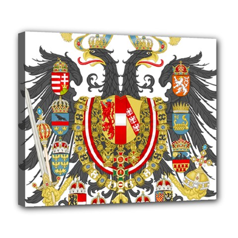 Imperial Coat Of Arms Of Austria Hungary  Deluxe Canvas 24  X 20