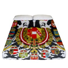 Imperial Coat Of Arms Of Austria Hungary  Fitted Sheet (queen Size)