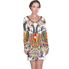 Imperial Coat Of Arms Of Austria Hungary  Long Sleeve Nightdress