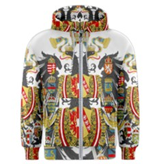 Imperial Coat Of Arms Of Austria Hungary  Men s Zipper Hoodie