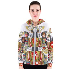 Imperial Coat Of Arms Of Austria Hungary  Women s Zipper Hoodie