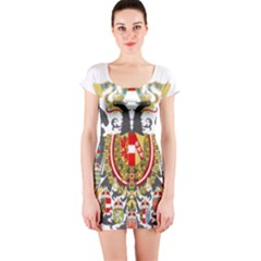 Imperial Coat Of Arms Of Austria Hungary  Short Sleeve Bodycon Dress