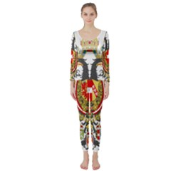 Imperial Coat Of Arms Of Austria Hungary  Long Sleeve Catsuit