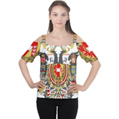 Imperial Coat Of Arms Of Austria Hungary  Cutout Shoulder Tee