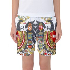 Imperial Coat Of Arms Of Austria Hungary  Women s Basketball Shorts