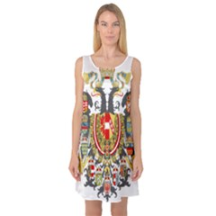 Imperial Coat Of Arms Of Austria Hungary  Sleeveless Satin Nightdress