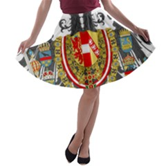 Imperial Coat Of Arms Of Austria Hungary  A Line Skater Skirt