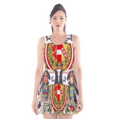 Imperial Coat Of Arms Of Austria Hungary  Scoop Neck Skater Dress