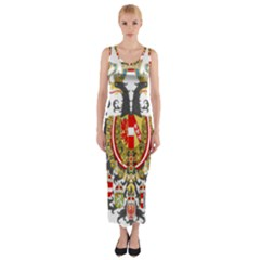 Imperial Coat Of Arms Of Austria Hungary  Fitted Maxi Dress