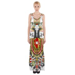 Imperial Coat Of Arms Of Austria Hungary  Maxi Thigh Split Dress