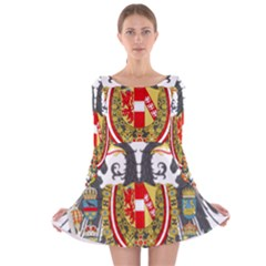 Imperial Coat Of Arms Of Austria Hungary  Long Sleeve Velvet Skater Dress