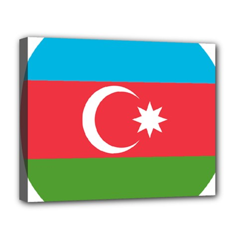 Roundel Of Azerbaijan Air Force Deluxe Canvas 20  X 16   by abbeyz71