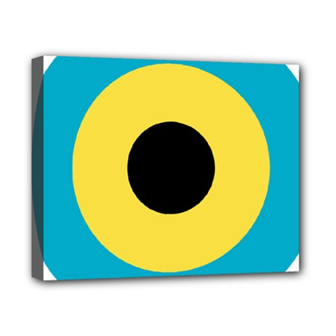 Roundel Of Royal Bahamas Defence Force Air Wing Canvas 10  X 8  by abbeyz71