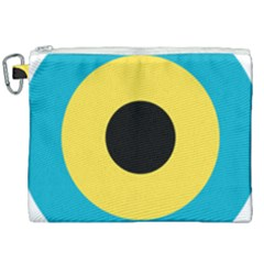Roundel Of Royal Bahamas Defence Force Air Wing Canvas Cosmetic Bag (xxl)