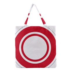 Roundel Of Bahrain Air Force Grocery Tote Bag by abbeyz71