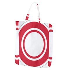 Roundel Of Bahrain Air Force Giant Grocery Zipper Tote by abbeyz71