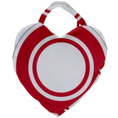 Roundel Of Bahrain Air Force Giant Heart Shaped Tote by abbeyz71