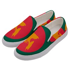 Flag Of Bangladesh, 1971 Men s Canvas Slip Ons by abbeyz71