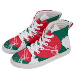 Flag Map Of Bangladesh Men s Hi Top Skate Sneakers by abbeyz71