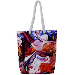 Cabin In The Mountain 2 Full Print Rope Handle Tote (small)