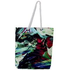 Cabin In The Mountain 4 Full Print Rope Handle Tote (large)