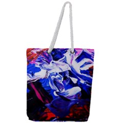 Cabin In The Mountain 1 Full Print Rope Handle Tote (large)
