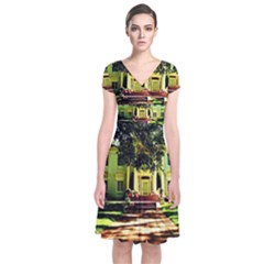 Highland Park 15 Short Sleeve Front Wrap Dress