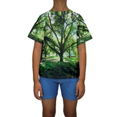 Highland Park 14 Kids  Short Sleeve Swimwear