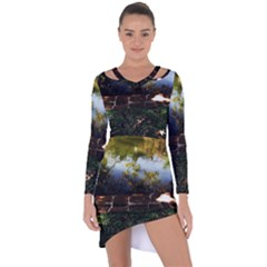 Highland Park 10 Asymmetric Cut Out Shift Dress