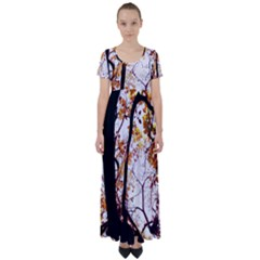 Highland Park 8 High Waist Short Sleeve Maxi Dress