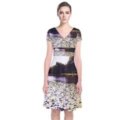 Highland Park 6 Short Sleeve Front Wrap Dress