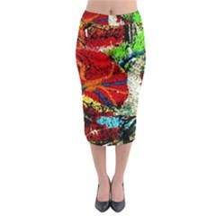Coffee Land 1 Midi Pencil Skirt