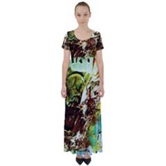 Doves Matchmaking 8 High Waist Short Sleeve Maxi Dress