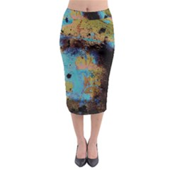 Blue Options 5 Midi Pencil Skirt