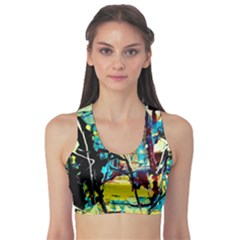 Dance Of Oil Towers 3 Sports Bra
