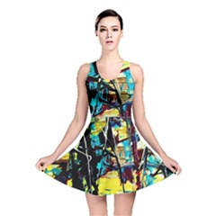 Dance Of Oil Towers 3 Reversible Skater Dress