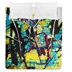 Dance Of Oil Towers 3 Duvet Cover Double Side (queen Size)