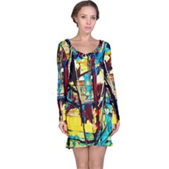 Dance Of Oil Towers 4 Long Sleeve Nightdress