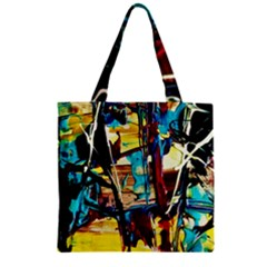 Dance Of Oil Towers 4 Zipper Grocery Tote Bag