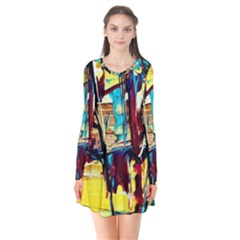 Dance Of Oil Towers 4 Flare Dress