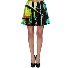 Dance Of Oil Towers 5 Skater Skirt