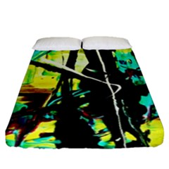 Dance Of Oil Towers 5 Fitted Sheet (queen Size)