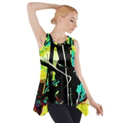 Dance Of Oil Towers 5 Side Drop Tank Tunic