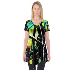 Dance Of Oil Towers 5 Short Sleeve Tunic